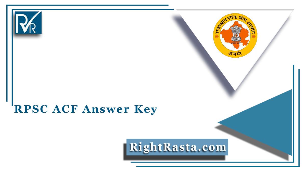RPSC ACF Answer Key