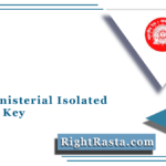 RRB Ministerial Isolated Answer Key 2021 (Out) | Download MI Solution Sheet