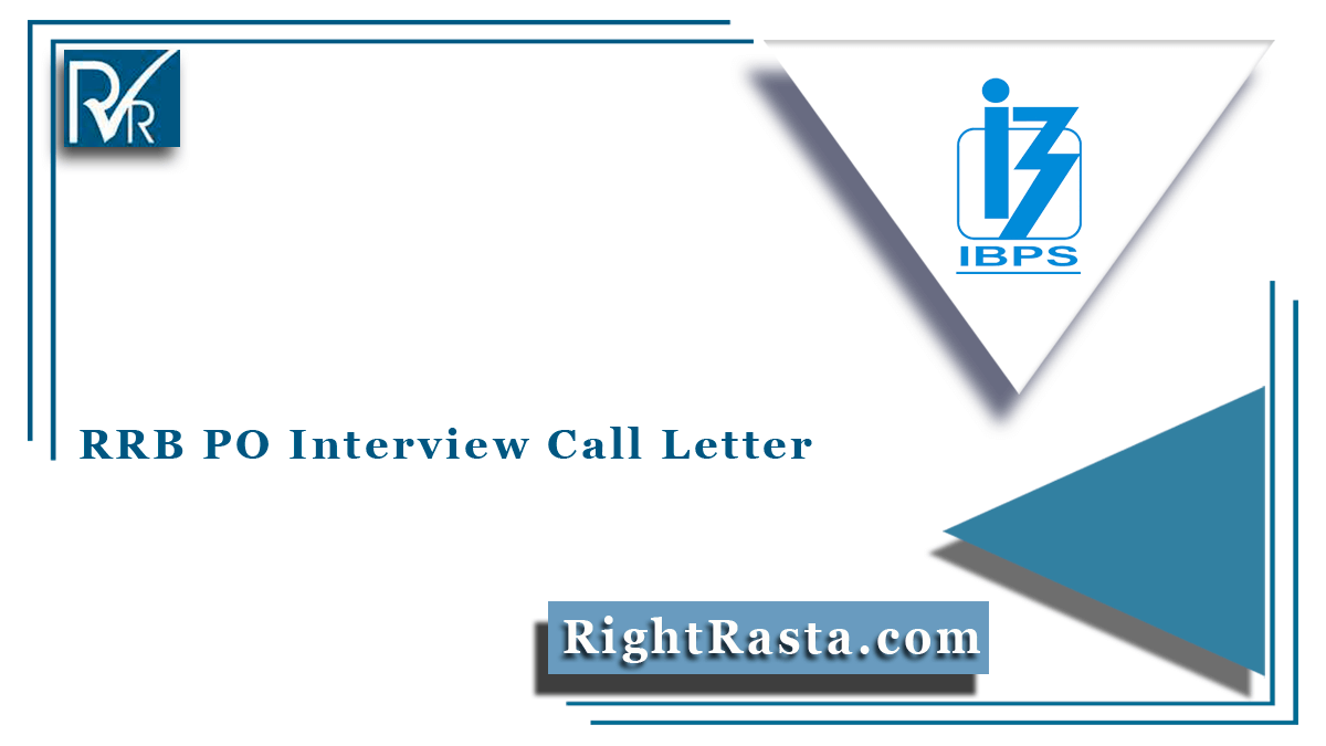 RRB PO Interview Call Letter