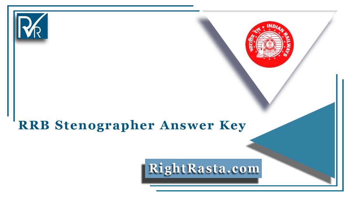 RRB Stenographer Answer Key