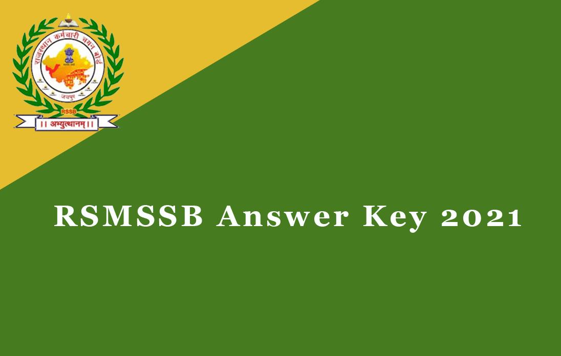 RSMSSB Answer Key 2021