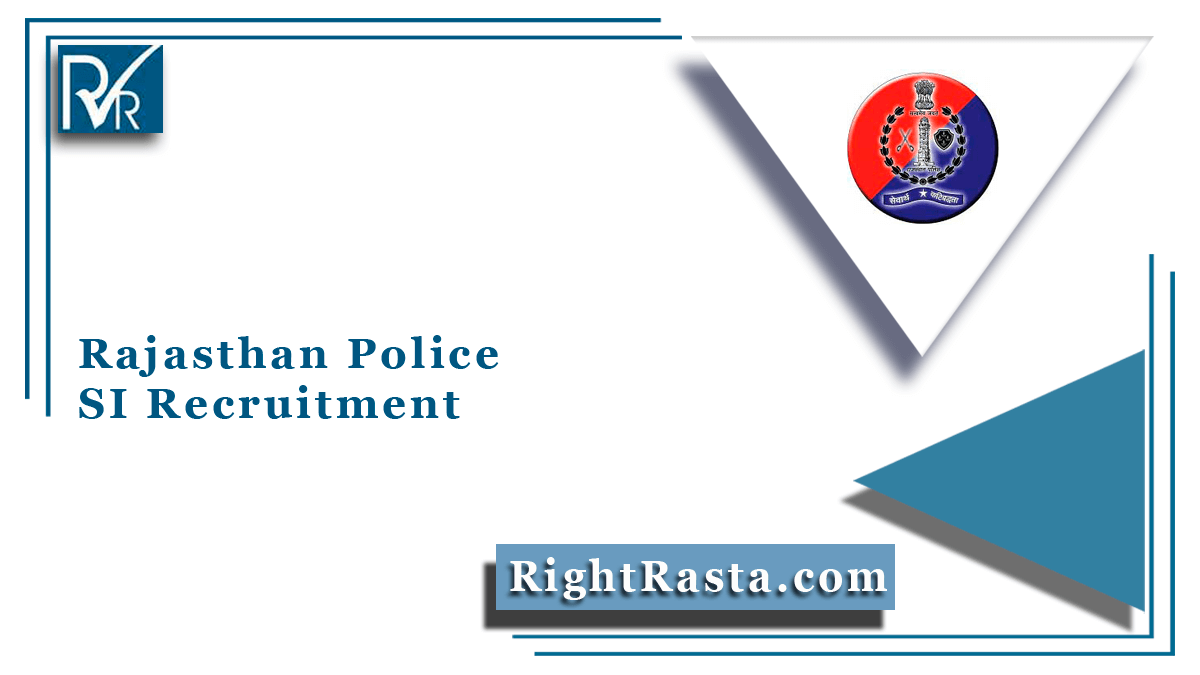 Rajasthan Police SI Recruitment