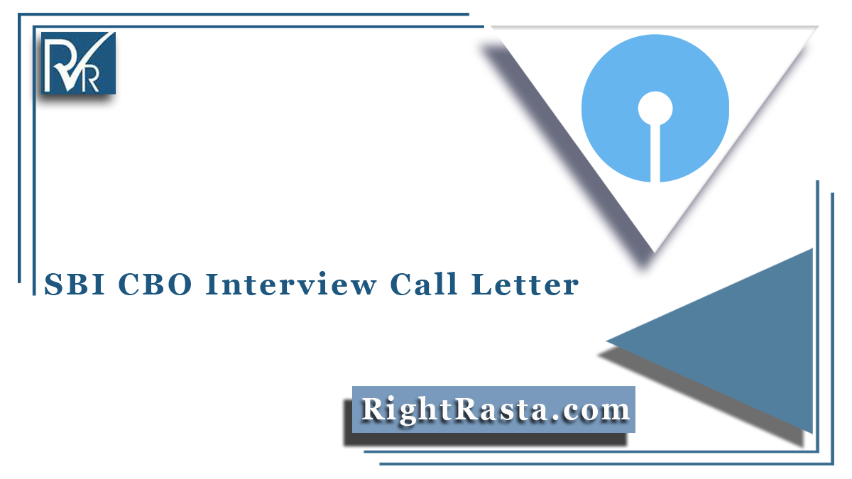 SBI CBO Interview Call Letter