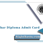 SBTE Bihar Diploma Admit Card 2021 (Out) | Download Polytechnic Hall Ticket