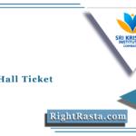 SKASC Hall Ticket 2021 (Out) | Download Batch I UG/PG February Admit Card