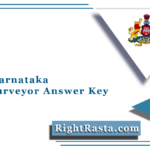 SSLR Karnataka Land Surveyor Answer Key 2021 (Out) | Download Solution Sheet
