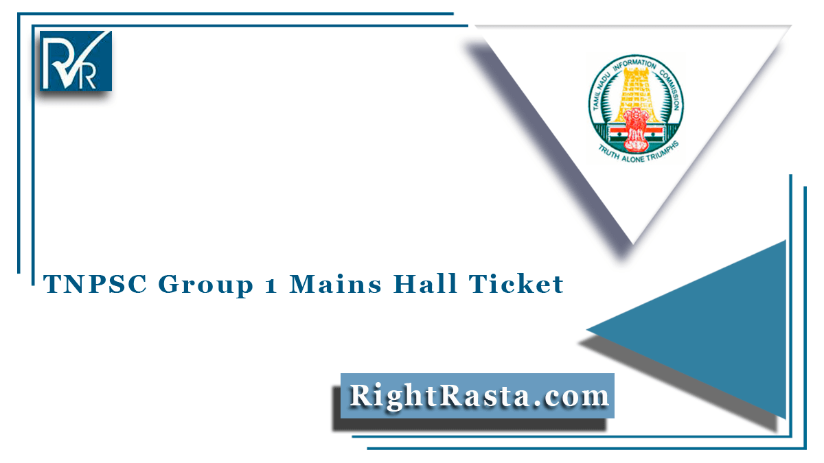 TNPSC Group 1 Mains Hall Ticket