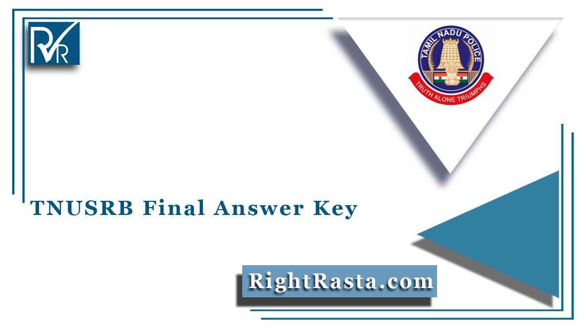 TNUSRB Final Answer Key