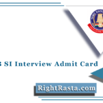 TNUSRB SI Interview Admit Card 2021 (Out)   TN Police Viva Voice Call Letter