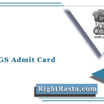 UPSC CGS Admit Card 2021 (Out) | Download UPSC Geo Scientist Hall Ticket