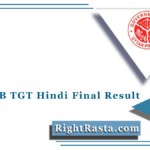UPSESSB TGT Hindi Final Result 2016 (Out) | Download Final Merit List