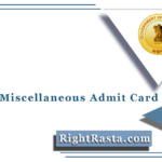 WBPSC Miscellaneous Admit Card 2021 (Out) | Download PSC Final Hall Ticket